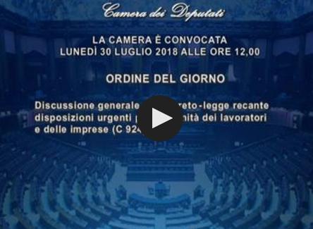 DECRETO DIGNITA': ITER IN COMMISSIONE – PERIODO TRANSITORIO PER PROROGHE E RINNOVI